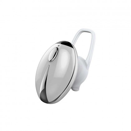 JKC001 BT Wireless Earphones Mini Portable Earbuds Business Sports Headset Handsfree HD Call For Mobile Phone (Silver)