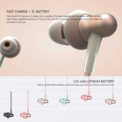 1MORE E1024BT Stylish Dual-dynamic  Driver BT In-Ear Headphones Collar Earphone Neckband Jaws Wireless BT4.2Headphone Neck Halter Style Music Headset Earphone Hands-free for Smartphones (Green)